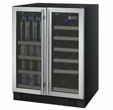 Allavino Built In Wine Refrigerator   Beverage Center Stainless Steel Dual Zone