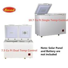 SMAD Solar Powered   Electric 2 Way Chest Freezer Off Grid Outdoor Camper Cabin