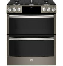 GE Profile PGS960EELES 30  Slide In Gas Double Oven Convection Range