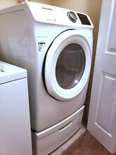 SAMSUNG DV42H5000GW 27  White Front Load Gas Dryer
