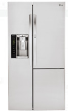 LG LSXS26386S 36 In Stainless Steel Side by Side Refrigerator