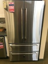 REF36X BERTAZONII 36  FRENCH DOOR 4 DOOR FRIDGE  STAINLESS STEEL DISPLAY