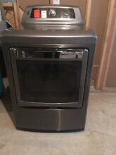Kenmore Elite 7 3 cu  Ft  Gas Dryer With Dual Opening Door  Metallic Silver