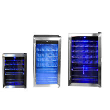 SMAD 19 28 35 Bottle Compressor Wine Cooler Fridge Stainless Steel Glass Door