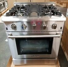 NEW OUT OF BOX DISCONTINUED THOR KITCHEN 30  RANGE 4 BURNER STAINLESS STEEL