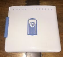 1950s General Electric Enamel Porcelain  Super Freezer  Hinged Door RE PURPOSE