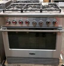 NEW OUT OF BOX DCS 36  RANGE STAINLESS STEEL 6 BURNER PRO HANDLE