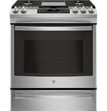 GE  JGS760SELSS 30  Slide In Front Control Convection Gas Range