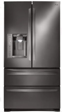 LG LMXS27626D 4 Door French Door Refrigerator Black Stainless 27 cu  ft