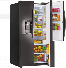 LG LSXC22486D 36 In Black Stainless Steel Side by Side Refrigerator