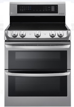 LG LDE4413ST 30 In Stainless Steel Dual Oven Electric Range