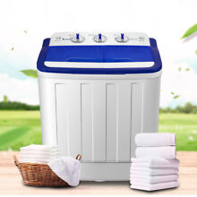Mini Washing Machine Compact Twin Tub 16lb Washer Spin   Dryer 1300rpm mins