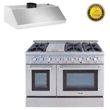 48  Thor Kitchen Dual Fuel Gas Range  48in Range Cooking Appliances