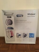 New Whirlpool Stacking Kit for Washer   Dryer with Shelf   Hanging Rack