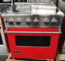 VIKING 30  ELECTRIC RANGE 4 BURNER LARGE OVEN IN RED
