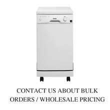 Danby 18  White Full Console Portable Dishwasher DDW1801MWP