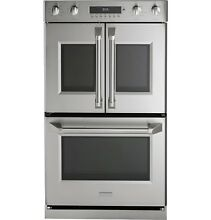 GE Monogram ZET2FLSS 30  Professional French Door Convection Double Wall Oven