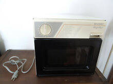 RARE 1986 Sharp Compact 400W Microwave Oven Half Pint Office Camper RV Dorm Room