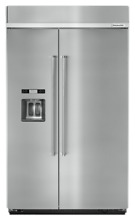 KitchenAid 48  Stainless Steel Built In Refrigerator 29 5 cu  ft KBSD608ESS New