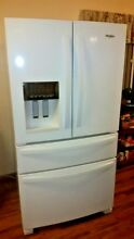 Whirlpool White Refrigerator Ice Maker French Door  13107323WQ  Top Drawer Front