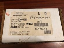 MAYTAG Washer Timer Part  27001060