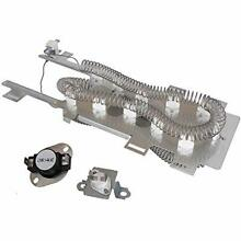 8544771 Dryer Heating Element 279973 Cycling Thermostat Thermal Fuse Switch Kit