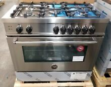 NEW OUT OF BOX BERTAZZONI MASTER SERIES 36  STAINLESS STEEL RANGE ALL GAS