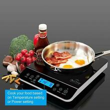 Induction Stove Top Burner Single Electric Portable Cooktop Sensor Cooker 1800W