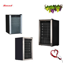 SMAD 19 28 35 Bottles Compressor Wine Cooler Wine Fridge Freestanding Bar Party