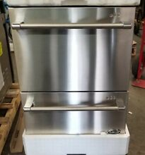 NEW OUT OF BOX DCS 24  DOUBLE DRAWER STAINLESS STEEL DISHWASHER PRO HANDLES