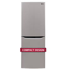 LG 24  Compact Two Door Refrigerator Bottom Freezer Platinum Silver LBNC10551V