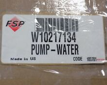 W10217134 WHIRLPOOL WASHER DRAIN PUMP OEM GENUINE   FREE US SHIPPING