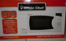 Microwave Countertop in White 0 7 cu  ft  700 Watts Compact Electronic Controls