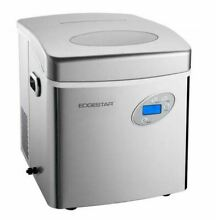 Stainless Steel Portable Ice Maker  Compact Countertop Machine  EdgeStar IP250SS