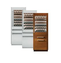 GE Monogram  ZIW30GNZII 30  Fully Integrated Wine Refrigerator w  ZKST300N Panel
