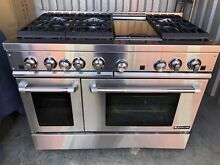 Jenn Air Pro 48  SS 6 Burners with Griddle Gas Range