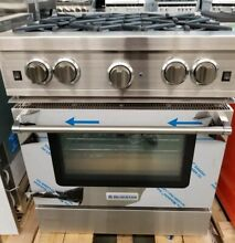 BLUE STAR 30  STAINLESS STEEL RANGE 4 BURNER REFURBISHED