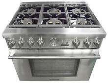 Thermador Pro Grand Professional Series PRD366JGU 36  Pro Style Dual Fuel Range