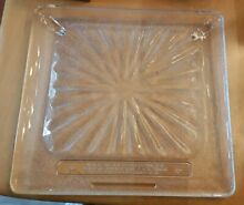 Square Microwave Glass Replacement Plate Tray Large 13 1 2 X 14 1 2 Vintage