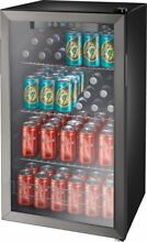 Insignia   115 Can Beverage Cooler   Black stainless steel  Model  NS BC120BS8
