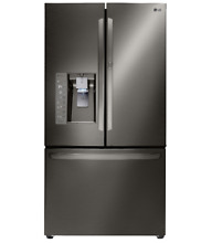 LG 36 Inch French Door Refrigerator Black Stainless Steel LFXS30766D