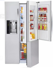 LG 36 In Stainless Steel Side by Side Refrigerator LSXS26366S