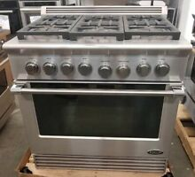 DCS STAINLESS 36 INCH ALL GAS  RANGE 6 BURNERS W CONVECTION OVEN