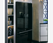 Jenn Air JFC2290REY 72  Counter Depth Black Glass French Door Refrigerator