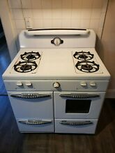Vintage 1940s Roper Gas Stove and 4 Burner Range White