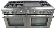 Thermador Pro Grand PRD606REG 60  Dual Fuel Range with 24  Griddle