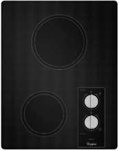 Kitchenaid KECC056RBL 15  Electric Cooktop with 2 Radiant Elements