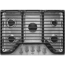 NEW Whirlpool WCG97US0DS 30  Stainless 5 Burner Gas Cooktop