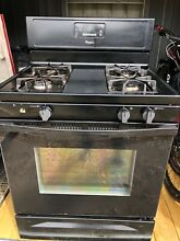 Whirlpool 5 1 Cu Ft  Gas Range with Broiler Drawer Black