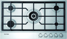 Fisher   Paykel CG365DNGX1 36  Stainless Steel 5 Burner Natural Gas Cooktop